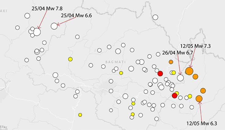 NEPAL, nuovo violento terremoto Mw 7.3 e nuove vittime